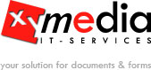 Logo: xyMedia your solution for documents & forms